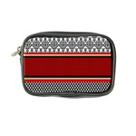 Background Damask Red Black Coin Purse Front