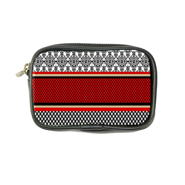 Background Damask Red Black Coin Purse