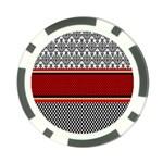 Background Damask Red Black Poker Chip Card Guards (10 pack)  Back