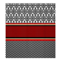 Background Damask Red Black Shower Curtain 66  x 72  (Large)