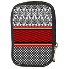 Background Damask Red Black Compact Camera Cases