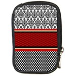 Background Damask Red Black Compact Camera Cases Front