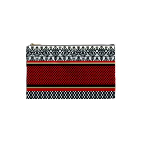 Background Damask Red Black Cosmetic Bag (Small)
