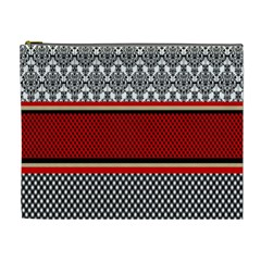 Background Damask Red Black Cosmetic Bag (XL)