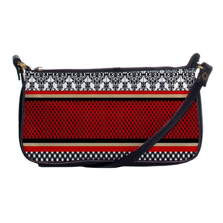 Background Damask Red Black Shoulder Clutch Bags