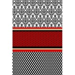 Background Damask Red Black 5.5  x 8.5  Notebooks Front Cover