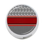 Background Damask Red Black 4-Port USB Hub (Two Sides)  Front
