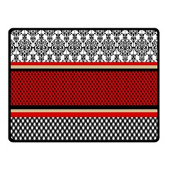 Background Damask Red Black Fleece Blanket (Small)