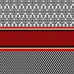 Background Damask Red Black Magic Photo Cubes Side 3
