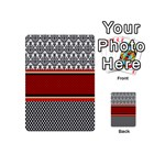 Background Damask Red Black Playing Cards 54 (Mini)  Back