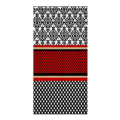 Background Damask Red Black Shower Curtain 36  x 72  (Stall)