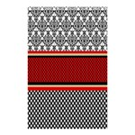 Background Damask Red Black Shower Curtain 48  x 72  (Small)  48 x72 Curtain