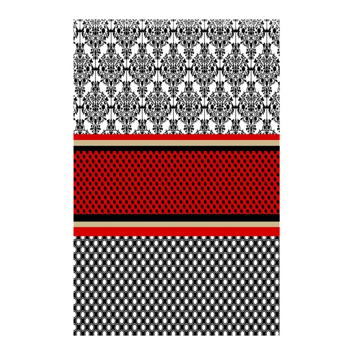 Background Damask Red Black Shower Curtain 48  x 72  (Small)