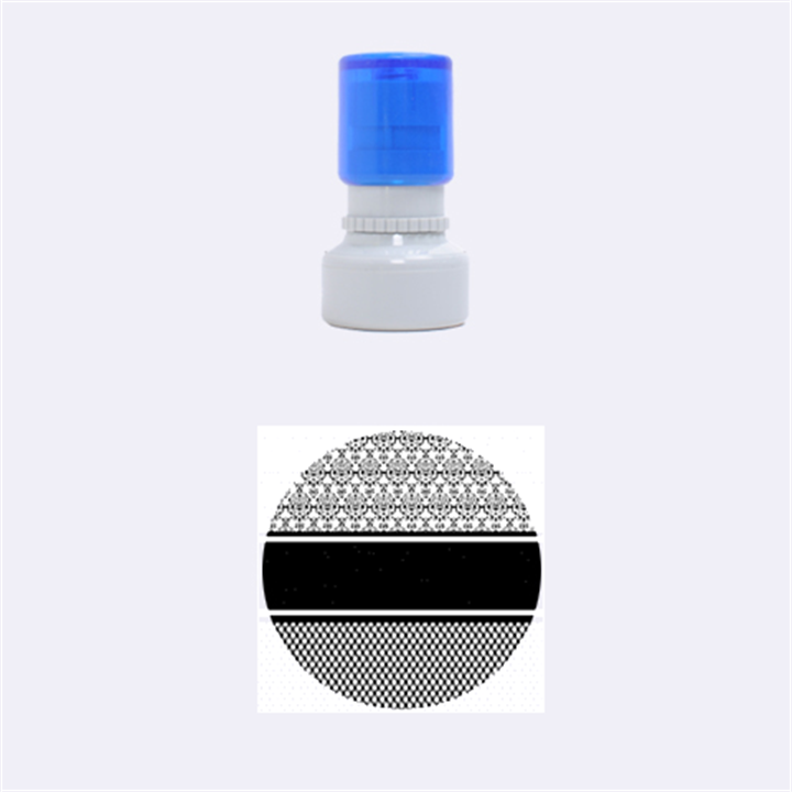 Background Damask Red Black Rubber Round Stamps (Small)