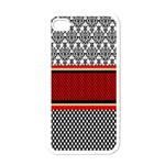 Background Damask Red Black Apple iPhone 4 Case (White) Front