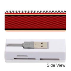 Background Damask Red Black Memory Card Reader (Stick)