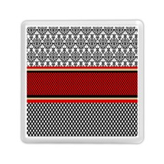 Background Damask Red Black Memory Card Reader (Square)