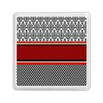 Background Damask Red Black Memory Card Reader (Square)  Front
