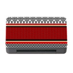 Background Damask Red Black Memory Card Reader with CF Front