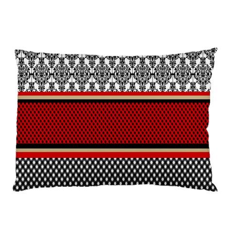 Background Damask Red Black Pillow Case (Two Sides)