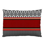 Background Damask Red Black Pillow Case (Two Sides) Front