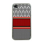 Background Damask Red Black Apple iPhone 4 Case (Clear) Front