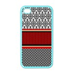 Background Damask Red Black Apple iPhone 4 Case (Color) Front