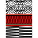 Background Damask Red Black YOU ARE INVITED 3D Greeting Card (7x5) Inside