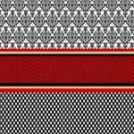 Background Damask Red Black #1 DAD 3D Greeting Card (8x4) Inside