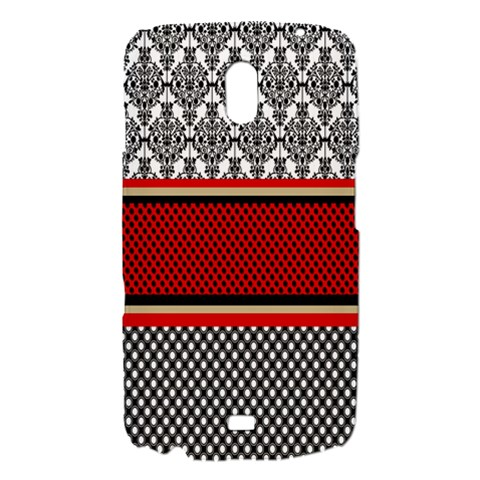 Background Damask Red Black Samsung Galaxy Nexus i9250 Hardshell Case