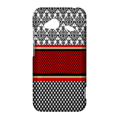 Background Damask Red Black HTC Droid Incredible 4G LTE Hardshell Case