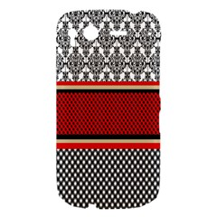 Background Damask Red Black HTC Desire S Hardshell Case