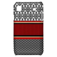 Background Damask Red Black Samsung Galaxy S i9000 Hardshell Case