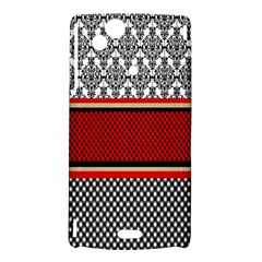 Background Damask Red Black Sony Xperia Arc