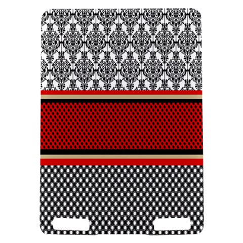 Background Damask Red Black Kindle Touch 3G