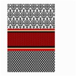 Background Damask Red Black Small Garden Flag (Two Sides) Back
