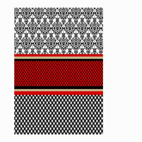 Background Damask Red Black Large Garden Flag (Two Sides)