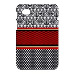 Background Damask Red Black Samsung Galaxy Tab 7  P1000 Hardshell Case