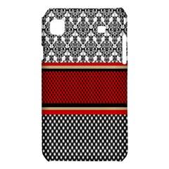 Background Damask Red Black Samsung Galaxy S i9008 Hardshell Case