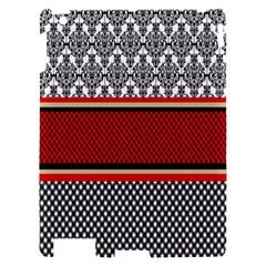 Background Damask Red Black Apple iPad 2 Hardshell Case