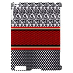 Background Damask Red Black Apple iPad 2 Hardshell Case (Compatible with Smart Cover)