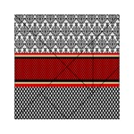 Background Damask Red Black Acrylic Tangram Puzzle (6  x 6 ) Front