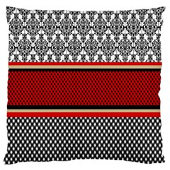 Background Damask Red Black Large Cushion Case (Two Sides)