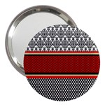 Background Damask Red Black 3  Handbag Mirrors Front