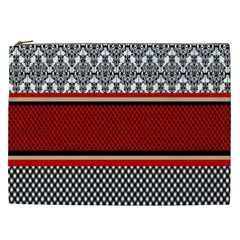 Background Damask Red Black Cosmetic Bag (XXL)