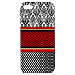 Background Damask Red Black Apple iPhone 5 Hardshell Case