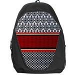 Background Damask Red Black Backpack Bag Front
