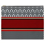 Background Damask Red Black Cosmetic Bag (XXXL)  Front