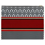 Background Damask Red Black Cosmetic Bag (XXXL)  Back