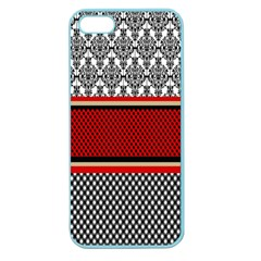 Background Damask Red Black Apple Seamless iPhone 5 Case (Color)